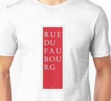 Rue du Faubourg - Paris Unisex T-Shirt