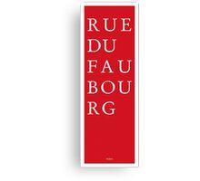 Rue du Faubourg - Paris Canvas Print