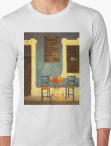 Table For Two Mykonos Greece Long Sleeve T-Shirt