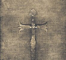 Cross on Linen by Madeleine Forsberg