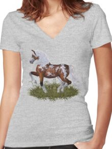 Magnificent Stallion Women's Fitted V-Neck T-Shirt