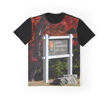 Cadillac Entrance Sign, Fall in Acadia Graphic T-Shirt