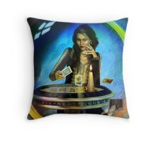 DUKKERIN' ... fortune teller Throw Pillow