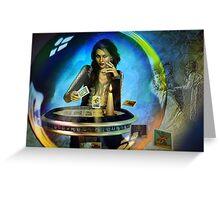 DUKKERIN' ... fortune teller Greeting Card
