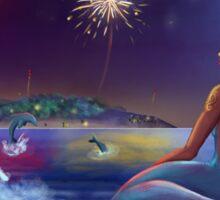 Mermaid in the night Sticker