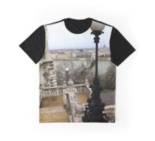 View of Danube & Budapest Chain Bridge Graphic T-Shirt