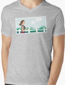 Fresh Air Runner Mens V-Neck T-Shirt