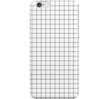 Black and white grid iPhone Case/Skin