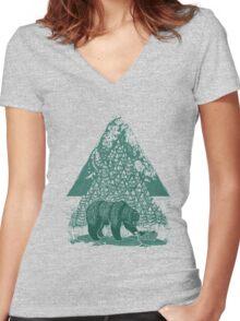 Teddy Bear Picnic Women's Fitted V-Neck T-Shirt