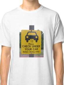 penguin parade warning sign Classic T-Shirt
