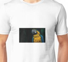 blue and yellow Macaw Unisex T-Shirt