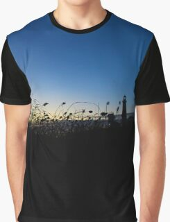 Silhouette of A Lighthouse at Dawn | Montauk Point, New York Graphic T-Shirt