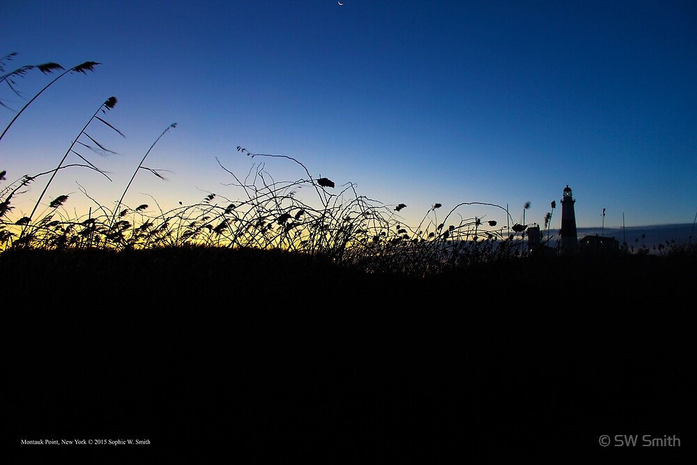 Silhouette of A Lighthouse at Dawn | Montauk Point, New York by © Sophie W. Smith