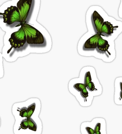 Green Butterflies Sticker