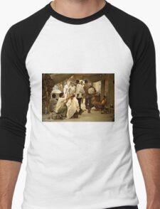 Why is she taking that photo? Men's Baseball ¾ T-Shirt