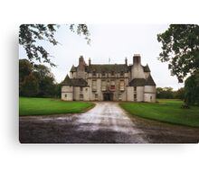 Leith Hall Facade - (Huntly, Aberdeenshire, Scotland) Canvas Print