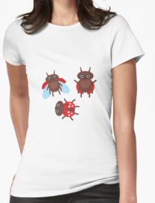Funny ladybugs  Womens Fitted T-Shirt