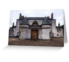 Leith Hall Back Entry - (Huntly, Aberdeenshire, Scotland) Greeting Card