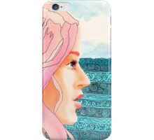 Pen and Acrylic Pink Haired Girl iPhone Case/Skin