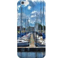Sailboats Painted 2 iPhone Case/Skin