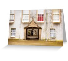 Leith Hall Architectural Details - (Huntly, Aberdeenshire, Scotland) Greeting Card