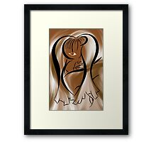 Abstract digital portrait - Tiribeia V3 Framed Print