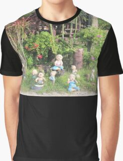 laughing dolls sitting in Thailand grass Graphic T-Shirt