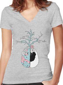 Garden - Halsey Women's Fitted V-Neck T-Shirt