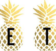 Zeta Pineapples Sticker