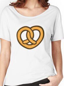 I Heart Pretzels Pattern Women's Relaxed Fit T-Shirt