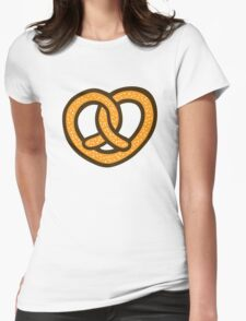 I Heart Pretzels Pattern Womens Fitted T-Shirt