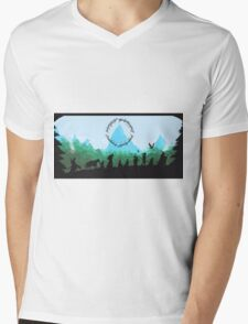 Lord of the Rings Travel Design Mens V-Neck T-Shirt