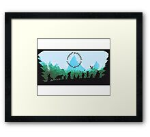 Lord of the Rings Travel Design Framed Print