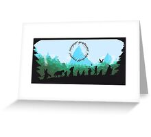 Lord of the Rings Travel Design Greeting Card