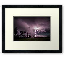 Lightning at Lennox Head Framed Print