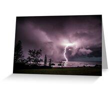 Lightning at Lennox Head Greeting Card