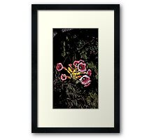 """Trumpet Vine """"Water Color Touch"""" Series  Framed Print"""