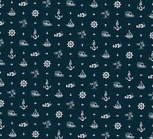 Nautical Pattern - Dark by James McKenzie