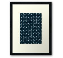Nautical Pattern - Dark Framed Print