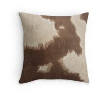 Brown Cowhide Throw Pillow