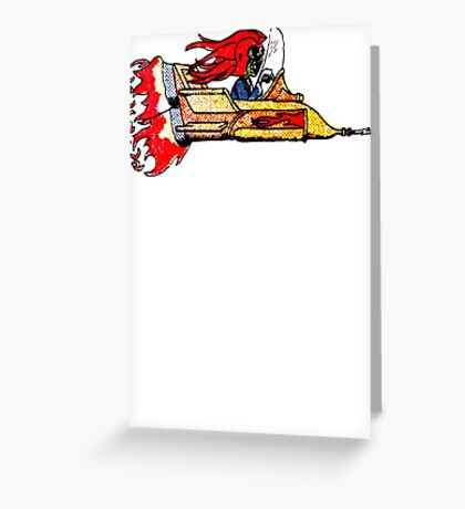 Creature Drag Racer Greeting Card