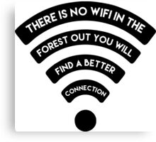 wifi forest Canvas Print