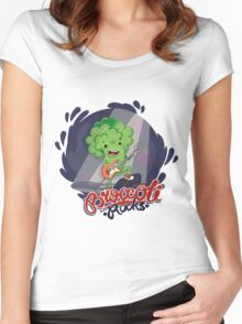 Broccoli Rocks! Women's Fitted Scoop T-Shirt