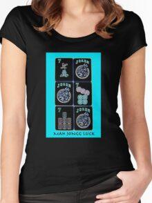 """Lucky Sevens and Jokers """"Mah Jongg Luck"""" #11 ~ Mah Jongg Series Women's Fitted Scoop T-Shirt"""