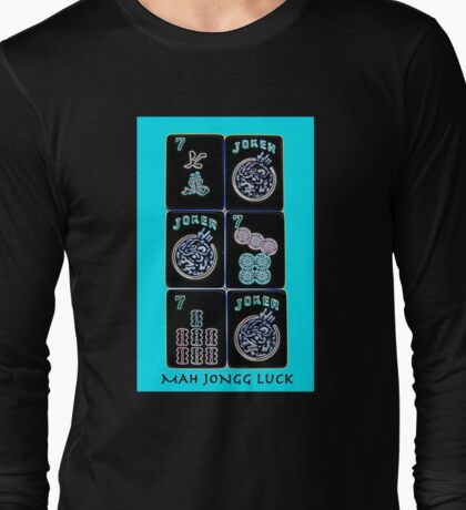 "Lucky Sevens and Jokers ""Mah Jongg Luck"" #11 ~ Mah Jongg Series Long Sleeve T-Shirt"