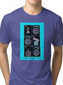 """Lucky Sevens and Jokers """"Mah Jongg Luck"""" #11 ~ Mah Jongg Series Tri-blend T-Shirt"""