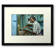 Chai in Madurai  Framed Print