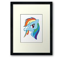 MLP: Rainbow Dash Framed Print