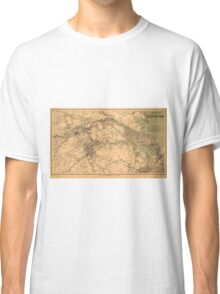Military Map of South Eastern Virginia by A. Lindenkohl (1864) Classic T-Shirt