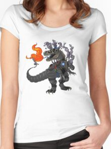 Steampunk T-rex Robot Women's Fitted Scoop T-Shirt